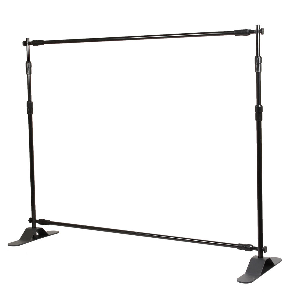 8 Telescopic Backdrop Stand Adjustable Banner Dis Printing
